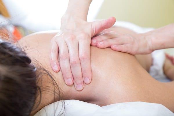 shoulder and neck massage closeup